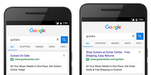 Google expanded adverts