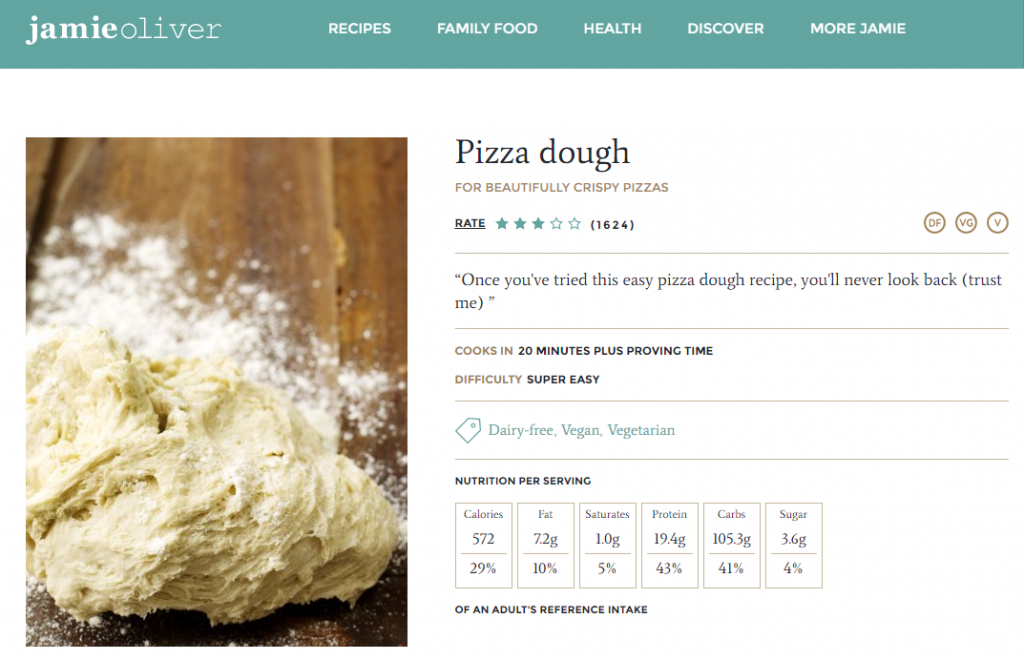Jamie Oliver pizza dough recipe