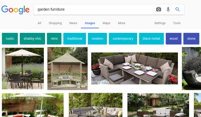 Google Images - refinements