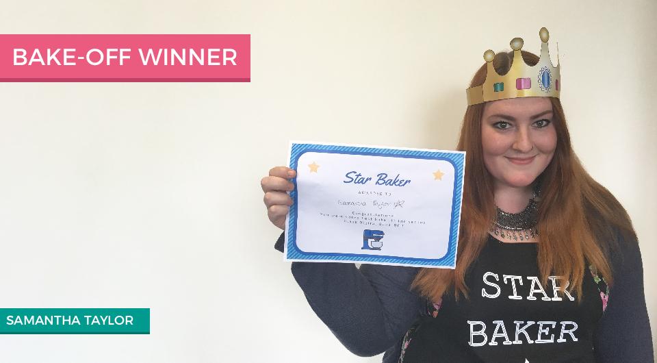 Bake-off winner Sam